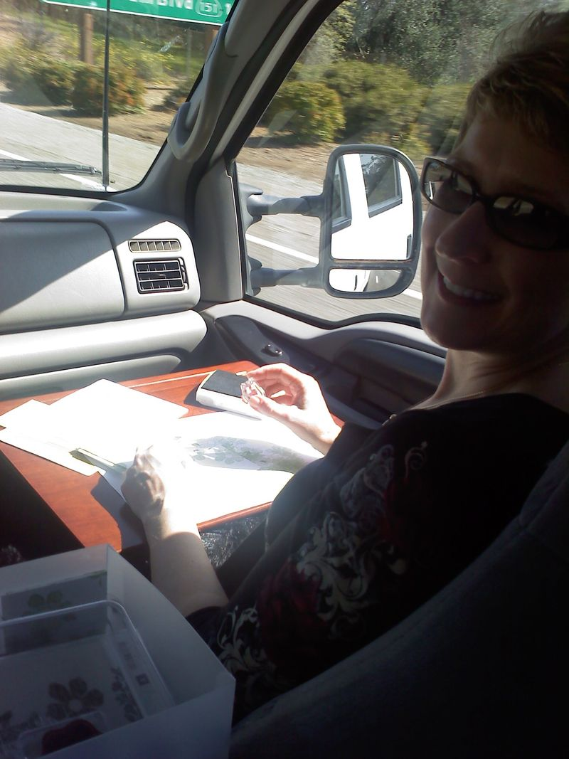 Jilli in truck