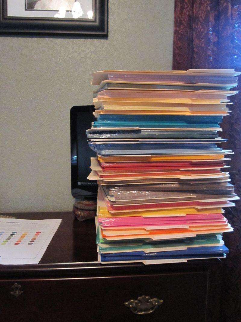 Room retiring paper stack