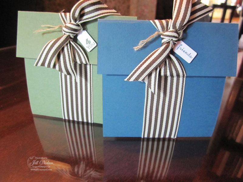 Blue and green gifts